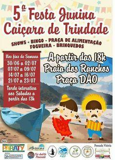 5ª Festa Junina Caiçara de Trindade  A partir das 18h na Praia dos Ranchos nos finais de semana de 30/06 a 02/07, 07/07 a 09/07, 14/07 a 16/07 e 21/07 a 23/07.  #exposição #evento #festival #música #fotografia #arte #cultura #turismo #VisiteParaty #TurismoParaty #Paraty #PousadaDoCareca #PartiuBrasil #MTur #boatarde #boatardee #bomdia #boanoite #praia #sol #mar #cachoeira #trindade #FestaJunina #caiçara