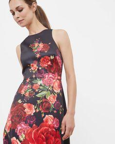 Juxtapose Rose maxi dress - Black   Dresses   Ted Baker UK