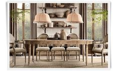 Great kitcken table with natural colors for the rest of the dinning room.  Rooms | Restoration Hardware