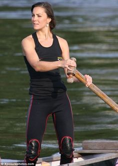 kate middleton. Love the drop earrings, just what I would wear rowing