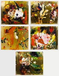 Lot 354: Matt Lamb (American, 1932-2012) Mixed Media on Paper Assortment; Five works; all undated, signed lower right or left, depicting abstract images