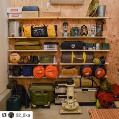 Basement Storage, Garage Storage, Basement Remodeling, Camping Style, Camping Gear, Survival Prepping, Emergency Preparedness, Things Organized Neatly, Camping Storage