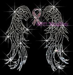 Hey, I found this really awesome Etsy listing at https://www.etsy.com/listing/151490189/angel-wings-pink-breast-cancer-ribbon