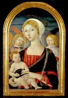 Matteo di Giovanni, Madonna col Bambino e Angeli 1470 ca. Buonconvento - Museo d'Arte Sacra della Val d'Arbia.