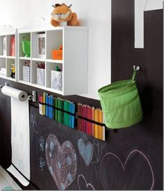 play room with craft area