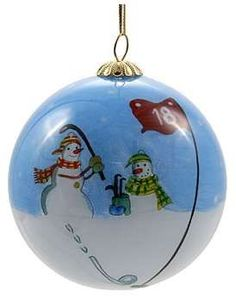 ProActive Sports Golf Christmas Ball Ornament - Snowmen Chipping. Hand-Painted Golf Balls, Unique Masterpiece Hand-painted from the inside with precision detail Great gift for your loved ones Comes in a protective gift box. Price: $8.99