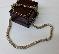 Vintage Halsschmuck - Alte Halskette Silber 835 Kette 50er/60er HK183 - ein…