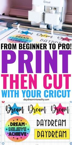 Today you are going to learn – whether you have Maker or Explore – how to Print and Cut images with your Cricut. To cut printables, stickers, and other types of images you need to use the Print then Cut setting. Cricut Help, Cricut Air, Cricut Vinyl, Cricut Stencils, Cricut Explore Projects, Cricut Explore Air, Good Tutorials, Cricut Tutorials, Circuit Projects