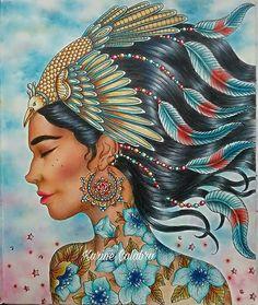 #nativeamerican #hannakarlzon #dagdrommar #daydreams #hannakarlzondagdrömmar #hannakarlzonsommarnatt #summernight #summernightcoloringbook  #sommarnattmålarbok #sommarnatt #coloringbook #livredecoloriage#watercolorpencils  #softpastel #panpastel  #coloringpencils #coloringbookforadults #colorful #creativecoloring #mycolorfulmoment #mycreativeescape #feather #divasdasartes #artecomoterapia #desenhoscolorir