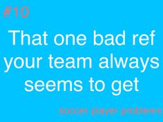 Every time!!! @soccer player problems