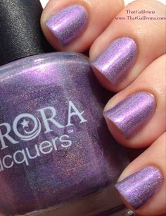 ThatGalJenna - Aurora Lacquers Review and Swatches - Mystic Mermaid Collection - Siren's Aura - indirect sun