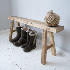 Reclaimed Oak Bench by Cooper Rowe Vintage Living www.notonthehighstreet.com