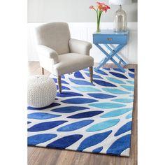 Modern Blue Rugs nuloom handmade modern leaves blue multi area rug 7396 x 9396
