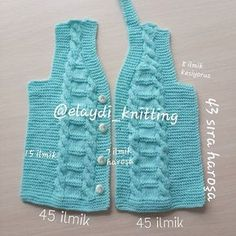 Sweater Knitting Patterns, Knit Patterns, Crochet Baby Clothes, Baby Vest, Knit Vest, Little Girl Dresses, Sweaters, Women, Fashion