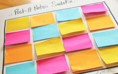 School Time Snippets: Post- It Notes Sudoku {Fine Motor Friday} Teaching Materials, Teaching Tools, Teaching Ideas, Teaching Resources, Reading Jobs, What Is Reading, Classroom Hacks, Learning Games For Kids, Back To School Activities