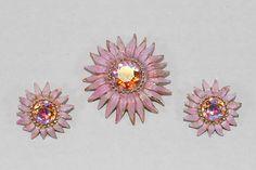 Weiss Rhinestone Set Pink Flower Set Flower by CommonCentsThrift