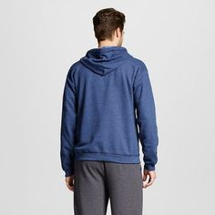 Hanes Premium Men's Fleece Hooded Sweatshirt - Navy 2XL, Size: Xxl, Deep Navy