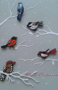 Зимна тема - картичка и украшение за елха   Winter card and Chritmas tree ornament   Тази година времето за куилинг не ми достигаше!  Но ...
