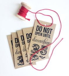 Brown Holiday Gift Tags