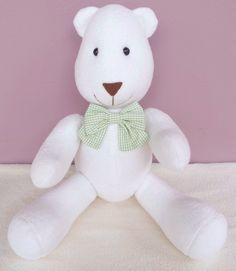 Urso Albertinho- verde  Decoração quarto de bebê, decoração chá de bebê, tema urso, ursinhos