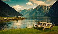 Vintage picnic - Hellesylt, Norway.