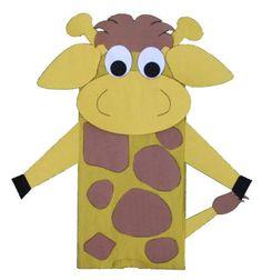 Manualidad con bolsa de papel la jirafa