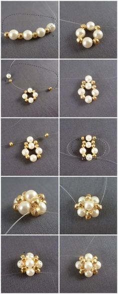 Easter jewelry inspiration project-how to make earrings studs out of pearls – Pandahall by co coressPandahall Original DIY Project – How to Make a…PandaHall Inspiration Project—White Glass…PandaHall DIY Project on How to Make Beaded Red… Making Jewelry For Beginners, Jewelry Making Tutorials, Wire Jewelry, Jewelry Crafts, Beaded Jewelry, Jewellery Box, Jewelry Ideas, How To Make Earrings, Bead Earrings