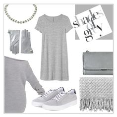 """""""Shades of Grey"""" by eternal-collection ❤ liked on Polyvore featuring canvas, STELLA McCARTNEY, Barbour, Gap, Vivienne Westwood, monochrome, grey, fashionable and fashionset"""