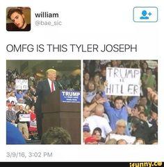 Image result for tyler joseph donald trump