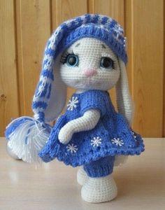 Mesmerizing Crochet an Amigurumi Rabbit Ideas. Lovely Crochet an Amigurumi Rabbit Ideas. Easter Crochet, Crochet Crafts, Crochet Dolls, Crochet Projects, Knit Crochet, Free Crochet, Diy Crafts, Crochet Animal Patterns, Stuffed Animal Patterns