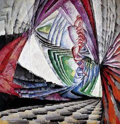 """FRANTISEK KUPKA """"Position d'un élément graphique mobile I"""" (1912-13)  Huile sur toile (200 x 194)"""