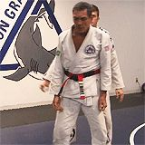Relson Gracie demonstrating some BJJ self-defense techniques.