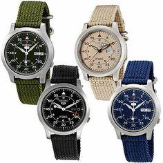 77228b51c4c Seiko 5 Fleiger style pilots watches 37mm Relógio Militar Seiko