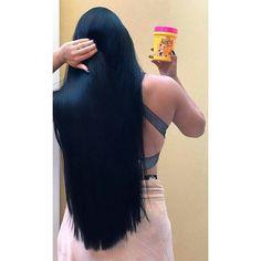 Straight Black Hair, Long Dark Hair, Very Long Hair, Beautiful Long Hair, Gorgeous Hair, Beautiful Haircuts, Madara Vs Hashirama, Long Indian Hair, Wine Hair