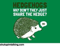 Selfish Hedgehogs http://shutupimtalking.com/selfish-hedgehogs/