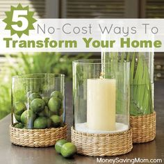 Wouldn't you love for HGTV to show up at your door for a surprise makeover? Reality check. It's probably not going to happen. The good news is you can still experience a transformation without new furniture or adding a master suite. Here are five no-cost and simple ways to makeover your home...