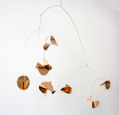 DIY Copper disc mobile