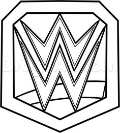 WWE Championship Belt Coloring Pages cakepins.com