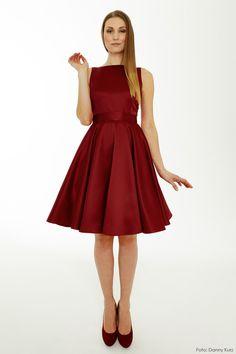 Festliches Petticoat-Kleid in Weinrot / perfect dress for christmas, petticoat, elegant and classy by Büdel via DaWanda.com