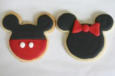 Mickey and Minnie Cookies - Somewhat Simple
