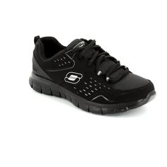 Get your ladies skechers trainers online now at Begg Shoes and Bags. Black lace up skechers: www.beggshoes.com