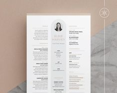 Resumes that help you make a great first impression! by KekeResumeBoutique Cv Template Word, Resume Design Template, Resume Templates, Cover Letter Design, Cv Cover Letter, Design Typography, Lettering, Curriculum Vitae Template, Resume Cv