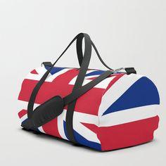 Vintage Union Jack British Flag Duffle Bag by mesutok Duffle Bag Travel, Travel Bags, Duffle Bags, British Things, Uk Flag, English Men, Flags Of The World, Union Jack, Electric Blue