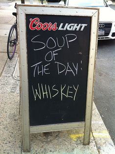 If I owned a bar... Soup Of The Day