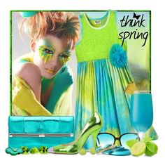 """""""Think Spring"""" by doozer ❤ liked on Polyvore featuring Diane Von Furstenberg, Barton Perreira, Olivine, Giuseppe Zanotti and Kenneth Cole"""