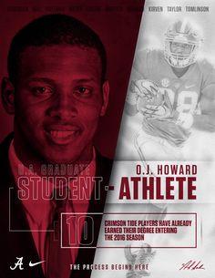 "O.J. Howard - UA graduates it's Athletes! Champions for Life!! Come join the ""Process""! #Scoop&Score #DLP #Alabama #RollTide #Bama #BuiltByBama #RTR #CrimsonTide #RammerJammer"