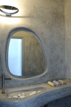 Cob style bathroom