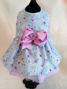 Lovely Lilac & Blue Butterfly Everyday Dog Dress by princessamee, $42.00