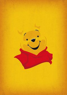 Winnie the Pooh Art Minimalist Pooh Retro Style by TheRetroInc