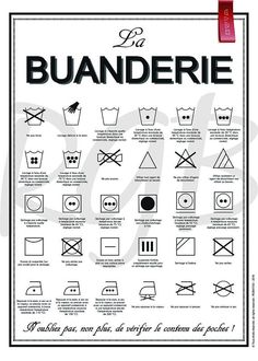 – La Buanderie poster – Sensible information for laundry labels Very good poster to hold above the washer, or within the laundry room, storage room … It would permit us to know what all these symbols imply! Product info: Poster (body not included) Interior Design Living Room, Living Room Designs, Interior Livingroom, Information Poster, Home Organisation, Konmari, Finance Tips, Poster Wall, Digital Image